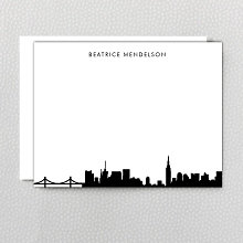 New York City Skyline: Flat Note Card