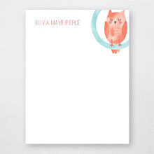 O is for Owl: Flat Note Card