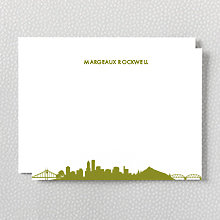 Portland Skyline: Flat Note Card