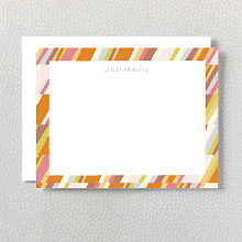 Warm Stripe: Flat Note Card