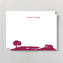 Wine Country Skyline: Flat Note Card