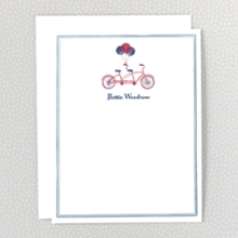French Bicycle: Flat Note Card