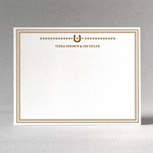 Horseshoe: Letterpress Flat Notecard