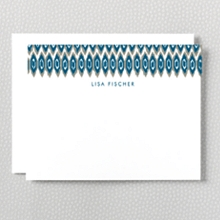 Ikat: Letterpress Flat Note Card