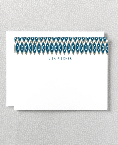 Ikat Letterpress Flat Note Card