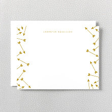 Arrows: Foil Flat Note Card