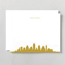 Austin Skyline: Foil Flat Note Card