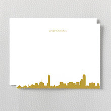 Boston Skyline: Foil Flat Note Card