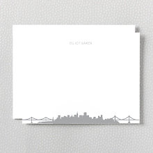 Chicago Skyline: Foil Flat Note Card