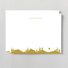 Desert Skyline: Foil Flat Note Card