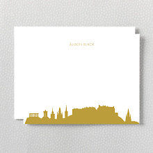 Edinburgh Skyline: Foil Flat Note Card