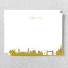 London Skyline: Foil Flat Note Card