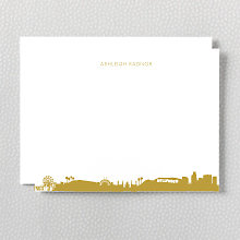 Los Angeles Skyline: Foil Flat Note Card
