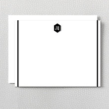 Monogram: Letterpress Flat Note Card