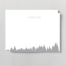 Mountain Skyline: Foil Flat Note Card