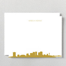 New Orleans Skyline: Foil Flat Note Card