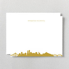 Portland Skyline: Foil Flat Note Card