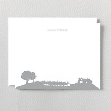 Wine Country Skyline: Foil Flat Note Card