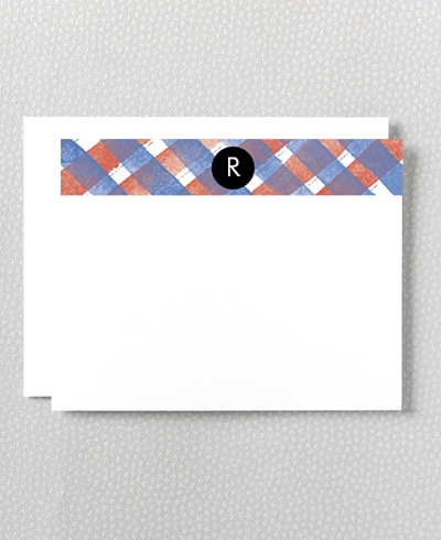 Plaid Flat Note Card