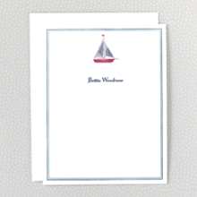 Sailboat: Flat Note Card