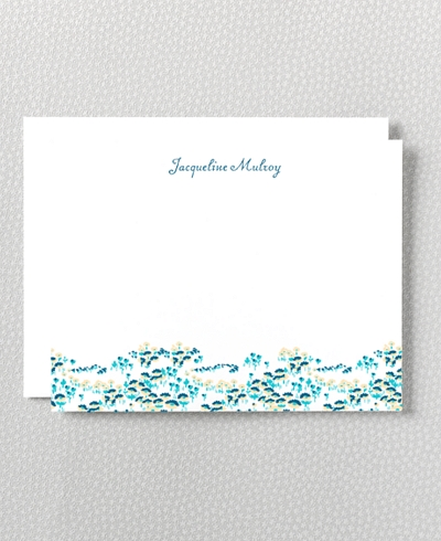 Secret Garden Letterpress Flat Note Card