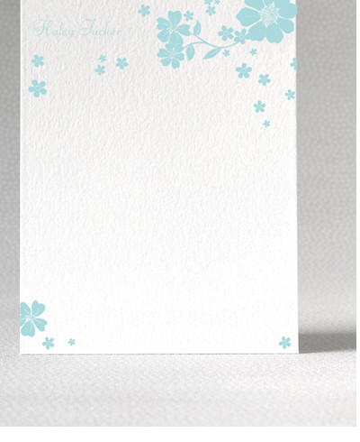 Summer Letterpress Flat Note Card