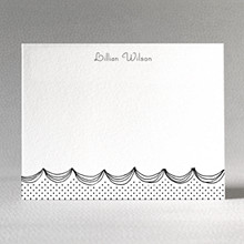Swiss Dot: Letterpress Flat Note Card