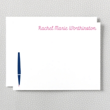 Whimsy: Letterpress Flat Note Card