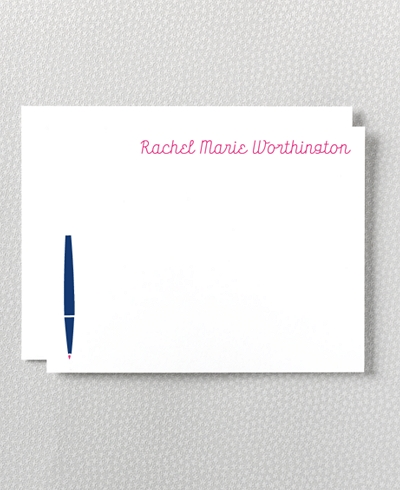 Whimsy Letterpress Flat Note Card