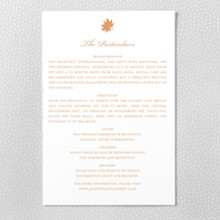 Autumn Leaves: Letterpress Details Card