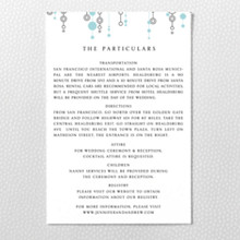 Chandelier - Letterpress Details Card