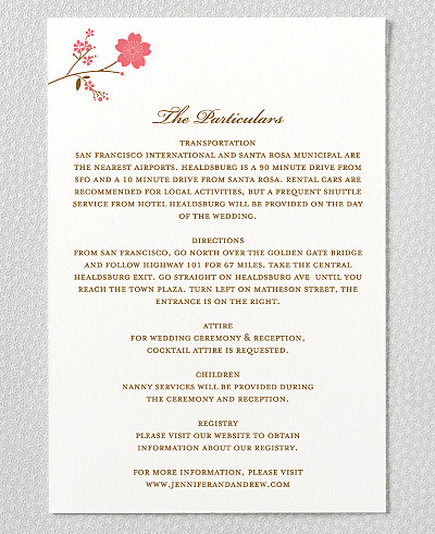 Cherry Blossom Details Card