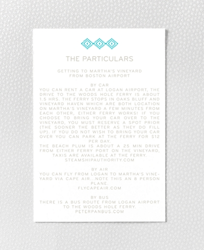 Cross Stitch Letterpress Details Card