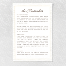Darling Bud: Letterpress Details Card