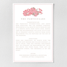 English Rose - Letterpress Details Card
