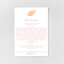 Feathers - Letterpress Details Card