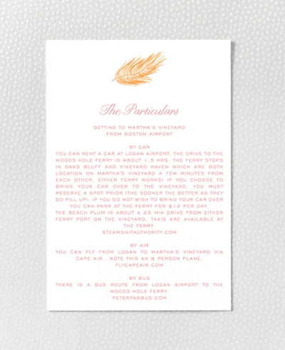 Feathers Letterpress Details Card
