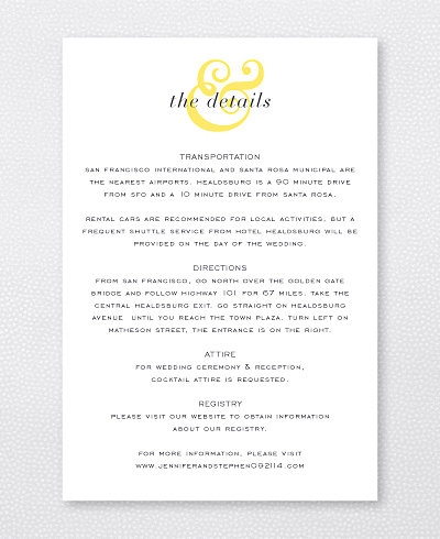 Ampersand Details Card