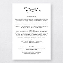 Flourish: Letterpress Details Card