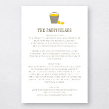 Lemonade Stand - Letterpress Details Card