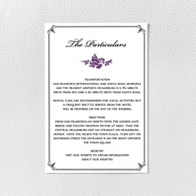 Gothic Rose: Letterpress Details Card