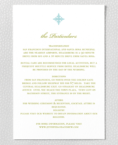 Ironwork Wedding Details Card