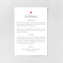 Love Knot - Letterpress Details Card
