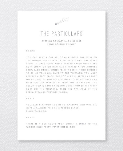 Shooting Star Foil/Letterpress Details Card