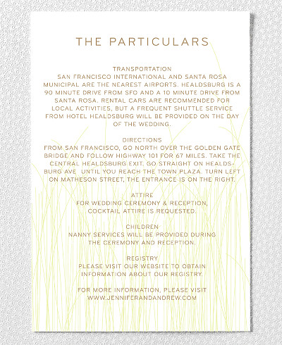 Meadow Wedding Details Card