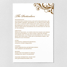 Oak - Letterpress Details Card