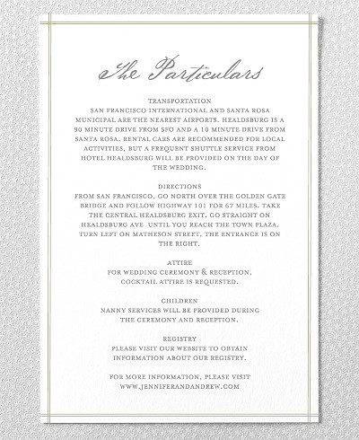 Orchid Wedding Details Card