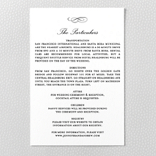Ritz - Letterpress Details Card