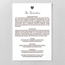 Sweetheart: Letterpress Details Card