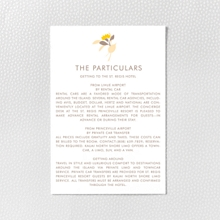 Tropic: Letterpress Details Card